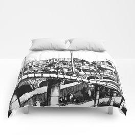 Han River BW Comforters