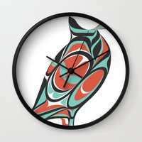 puffin Wall Clocks featuring Puffin by Siggi Odds