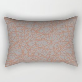 Cavern Clay SW 7701 Thick Hand Drawn Scribble Mosaic Pattern Slate Violet Gray SW9155 Rectangular Pillow