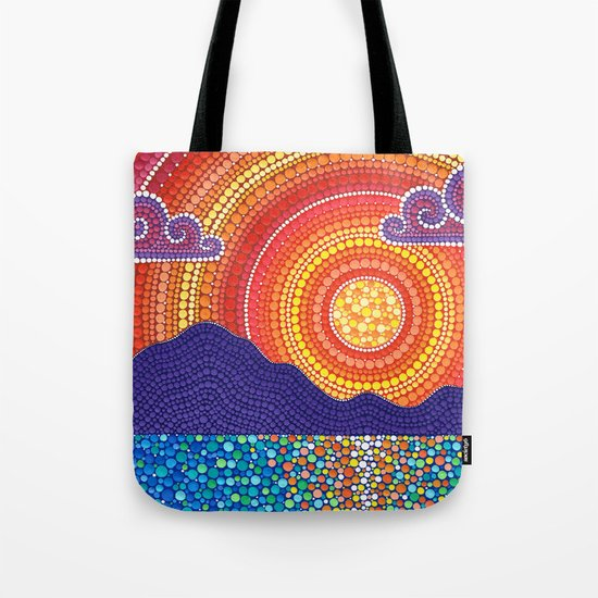 Elegant Sunset over Mountains Tote Bag