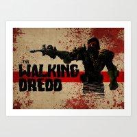 the walking dredd Art Print