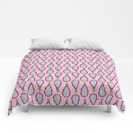 Dragonfruit - Pink Doodle Pattern Comforters