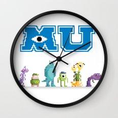 Pixel Monsters University Wall Clock
