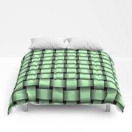 Light Green Weave Comforters