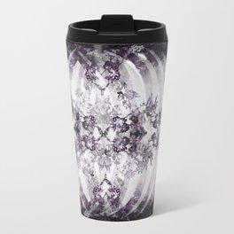 Floral Abstract Ribcage Travel Mug