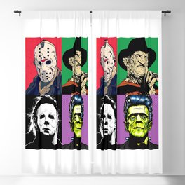 Horror Pop Art Blackout Curtain