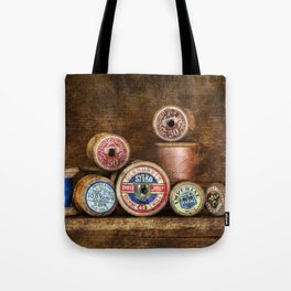Old Cotton Bobbins Tote Bag