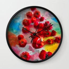Homegrown Tomatoes Wall Clock