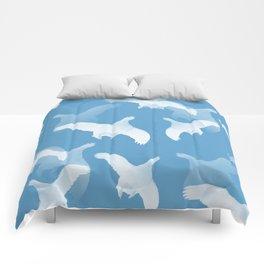 White Birds Against The Blue Sky #decor #society6 #homedecor Comforters