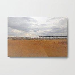 High Level Train Bridge Metal Print