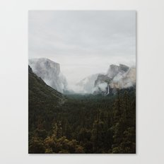 Yosemite Fog Canvas Print