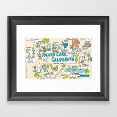 Toluca Lake Framed Art Print