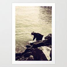 Fisherman at Sausalito Art Print