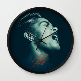 Billie / The great Billie Holiday Wall Clock