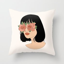 Blinded By Beauty Throw Pillow