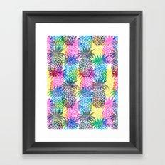 Pineapple CMYK Repeat Framed Art Print