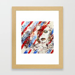 David Bowie Shines On Framed Art Print