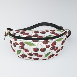 Cherries on White Background Fanny Pack