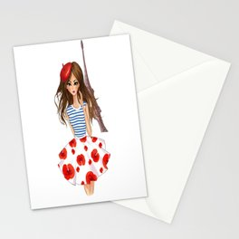 French Girl Stationery Cards