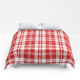 Cozy Plaid in Red and White Comforters