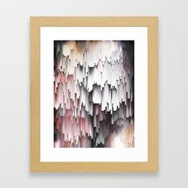 White Black Mauve Cascade Abstract Framed Art Print
