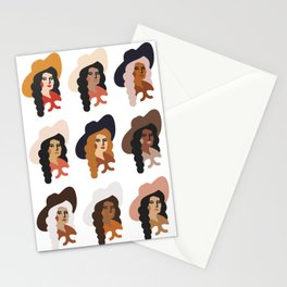 Multi Culture Cowgirl Stationery Cards