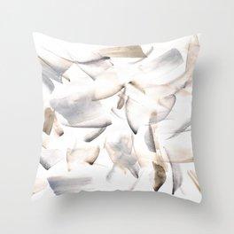 180630 Grey Black Brown Neutral Abstract Watercolour 10 | Watercolor Brush Strokes Throw Pillow