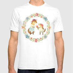 Otterly Grateful Mens Fitted Tee White MEDIUM