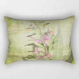 Decorative Green Floral Rectangular Pillow