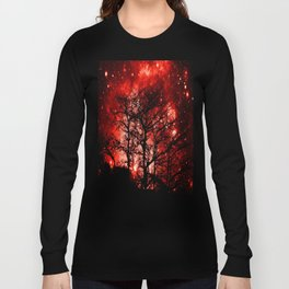 black trees red space Long Sleeve T-shirt