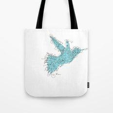 Bird Fly 1 - Aqua/Brown Tote Bag