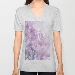 Purple Pattern Unisex V-Neck