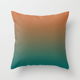 Quetzal Green Meerkat Gradient Pattern Throw Pillow