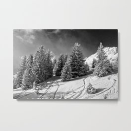 Courchevel 3 Valleys Alps France Metal Print