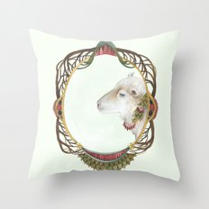 Quilted Forest // Lily the Sheep Throw Pillow