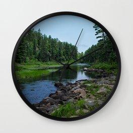 Boundary Waters River Wall Clock