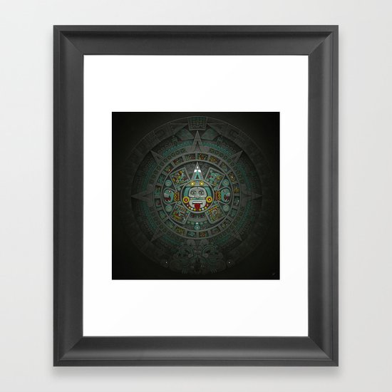 Stone of the Sun II. Framed Art Print