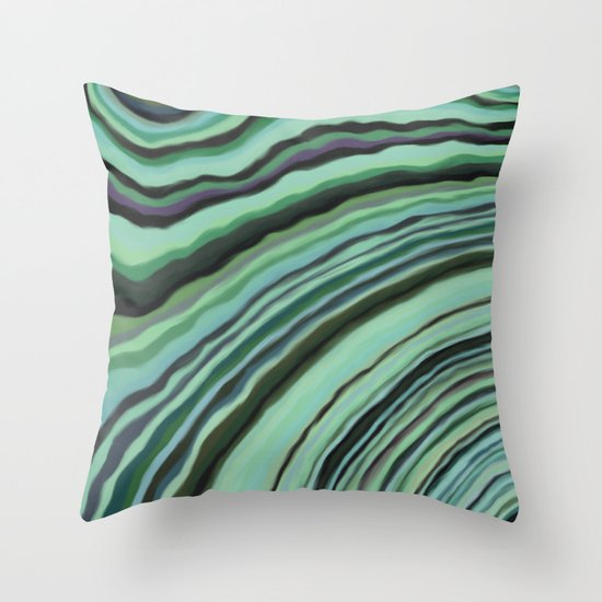 Mineralicious~Mint Tourmaline Throw Pillow