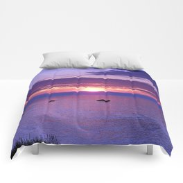 Colorful Cloudy Sunset  Comforters