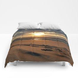 Netherlands Zeeland Ouddorp Beach Summer Late Sunset Comforters