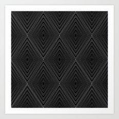 Diamonds (Black) Art Print