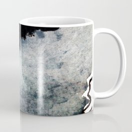 Closer - a black, blue, and white abstract piece Coffee Mug