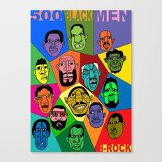 1001 Black Men--#500 Canvas Print
