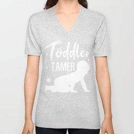 Toddler Tamer Humor Unisex V-Neck