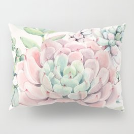Perfect Pink Succulent Pillow Sham