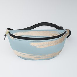 Abstract Paint Stripes Gold Tropical Ocean Sea Blue Fanny Pack