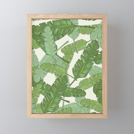 Banana Leaf Print Framed Mini Art Print
