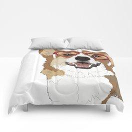 Happy Valentine's Day Corgi Comforters