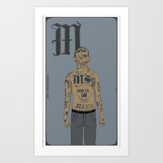 M is for.. Art Print