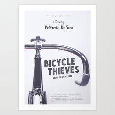 Bicycle Thieves - Movie Poster for De Sica's masterpiece. Neorealism film, fine art print. Art Print